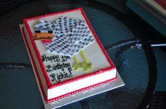Minecraft Chicken Birthday Cake