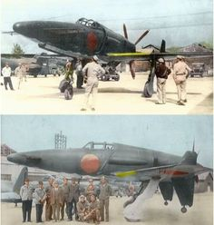 """The Kyūshū Shinden (震電, """"Magnificent Lightning"""") fighter was a World War II Japanese propeller-driven aircraft prototype that was built in a canard design. Navy Aircraft, Ww2 Aircraft, Fighter Aircraft, Military Aircraft, Fighter Jets, Luftwaffe, Panama Red, Lightning Fighter, Imperial Japanese Navy"""