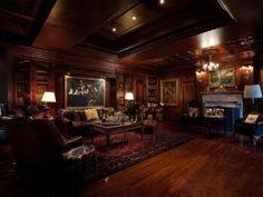 Library: Palatial Villa Vecchia Mansion in Miami, built in 1928