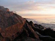 Early morning on the rocks.    Lake Michigan - Two Rivers WI