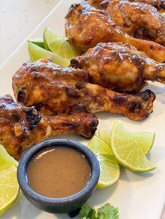 Jalapeño Lime Chicken Drumsticks Chicken Drumsticks, Chicken Wings, Jalapeno Sauce, Japanese Sweet Potato, Pcos Diet, White Potatoes, Lime Chicken, Whole30 Recipes, Tandoori Chicken