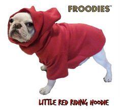 French Bulldog Boston Terrier Pug Dog Froodies Hoodies Red Sweatshirt Coat #FroodiesHoodies