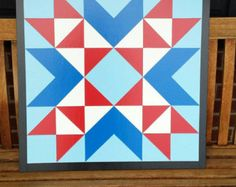 Barn Quilt 1x1 8 Point Star 2 Colors by barnquiltsetc on Etsy