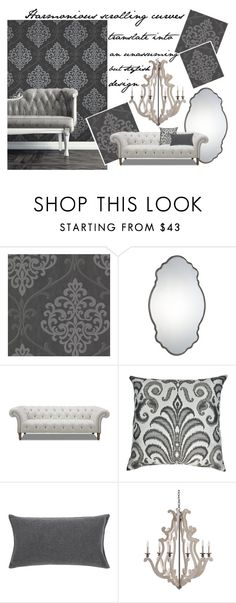 Traditionally Curvy - Damask and Scrollwork by latoyacl on Polyvore featuring interior, interiors, interior design, home, home decor, interior decorating, Andrew Martin, Uttermost, JAG Zoeppritz and Sherry Kline