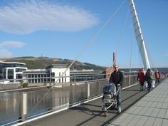 Swansea's Sailbridge links the city centre to SA1 Waterfront