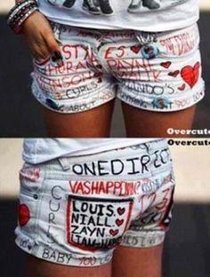 DIY One Direction Shorts!