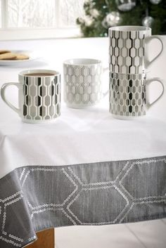 Your cup of tea never looked so chic! Go for timeless monochrome for your kitchen accessories.