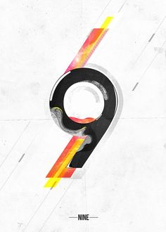 #nine  #flyer  #design  #inspiration  #black  #yellow  #red  #Illustration