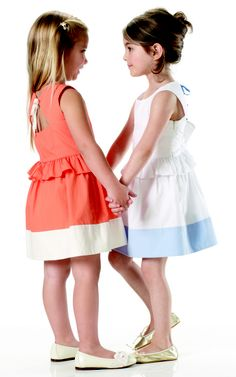 Colour block dresses with cut-out back detail, by Marie-Chantal