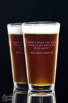 Beer Quote Glasses