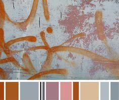 Pastels + rust + neutrals