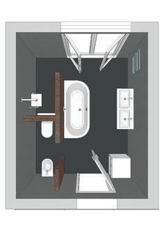 ein Badezimmer mit einer Badewanne, die auf drei seiten freisteht
