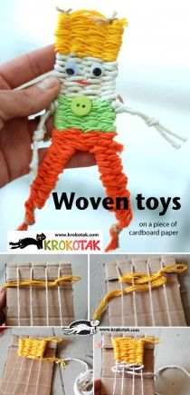 05 (Woven toys on a piece of cardboard paper )