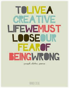 To Live a Creative Life print