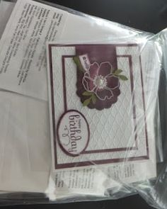 PENNY TOKENS STAMPIN SPOT: Fabulous Florets Birthday Card