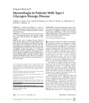 http://www.researchgate.net/publication/258348342_Menorrhagia_in_Patients_With_Type_I_Glycogen_Storage_Disease