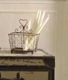 Heart metal storage basket