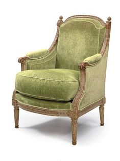 c1785 A LOUIS XVI GREY-PAINTED BERGERE BY ANTOINE GAILLARD, CIRCA 1785 Price realised GBP 5,040