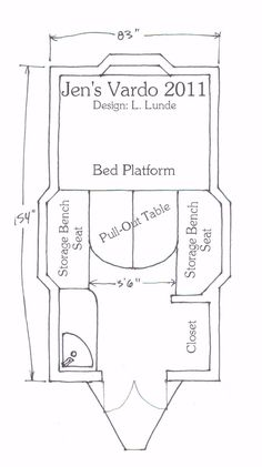 Blog of someone's vardo building journey. This entry has the floor plan. Kintala: The Best Laid Plans.