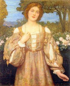 Monna Giovanna - Edward Robert Hughes - (British: 1851-1914)