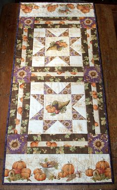 Fall Autumn Table runner Quilted table runner di RedNeedleQuilts