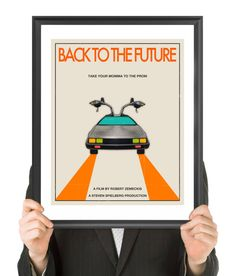 BACK To The FUTURE Movie Poster Fine Art Print by FinlayMcNevin, $16.00