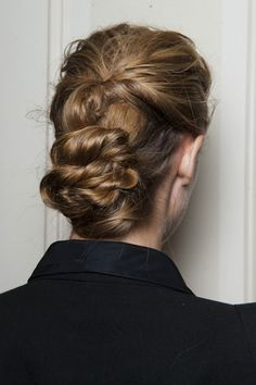 The Best Beauty Looks from NYFW SPRING 2013 — The Row: Here's a chic way to wear your hair up that's not meant to be perfect or too precise.