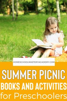 Enjoy all types of books and activities surrounding a picnic theme for preschoolers! Introduce early learning math and reading concepts as well as fine motor skills and learning through play! #preschool #preschollthemes #prek #homeschoolprintables #homeschoolpreschool Preschool Projects, Preschool At Home, Preschool Activities, Summer Holiday Activities, Outdoor Summer Activities, Early Learning, Fun Learning, Picnic Theme, Summer Fun For Kids