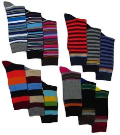 Men's Pattern, Stripe Dress Socks, 12 Pairs, Size 10-13 Executive Dress Series,http://www.amazon.com/dp/B00817NDI0/ref=cm_sw_r_pi_dp_LOWDtb1C3V9VXBES