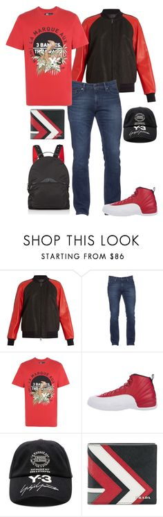 """""""485%"""" by deliriousxdoc ❤ liked on Polyvore featuring Neil Barrett, Tommy Hilfiger, Y-3, NIKE, Prada, Christian Louboutin, men's fashion and menswear"""