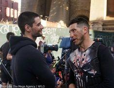 ben and jon // the punisher Punisher Tattoo, Punisher Logo, Punisher Skull, Punisher Netflix, Punisher Comics, Captain Marvel, Marvel Dc, Marvel Comics, Ben Barnes