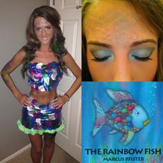 Rainbow fish no sew costume rainbow fish costume fish costume and rainbow fish diy halloween costume solutioingenieria Gallery
