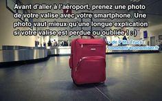Quand on prend l'avion, il y a toujours un risque de perdre un bagage à l'aéroport. Après, bonjour la galère pour le retrouver ! Heureusement, il y a un truc simple pour retrouver un bagage perdu en France et à l'étranger. L'astuce est de prendre une photo de tous vos bagages. Découvrez l'astuce ici : http://www.comment-economiser.fr/astuce-pour-retrouver-facilement-bagage-perdu-aeroport.html?utm_content=bufferb4d11&utm_medium=social&utm_source=pinterest.com&utm_campaign=buffer