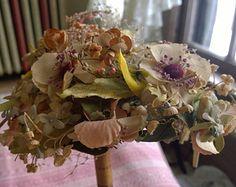 """Vintage 1920's """"Gardenia"""" Silk Flower Fascinator"""