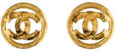 Chanel CC Earrings #statement #earrings #chanel #fashion #gold
