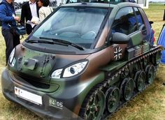 smart car with tracks