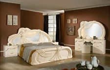 mahagoni massivholz barock bett 180 cm louis xv wei barockbett prunkbett gold ideen rund ums. Black Bedroom Furniture Sets. Home Design Ideas