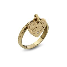 This unique Kabbalah ring is specially designed for to us looking for a partner. It includes a beautiful hanging Heart . This beautiful Kabbalah ring is hand made from 9 K gold and set with a delicate diamond Diamond Heart, Heart Ring, Gold Heart, Israeli Jewelry, Evil Eye Ring, Jewish Jewelry, Matching Rings, Love Ring, Ring Ring