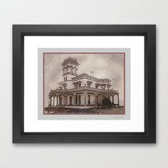Bidwell Mansion Framed Art Print by David Lee Graphic Artist - $42.00