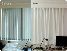 Rental apartment window/curtain makeover D.I.Y