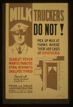 Milk Safety 1936. FDA. Cleveland Ohio.