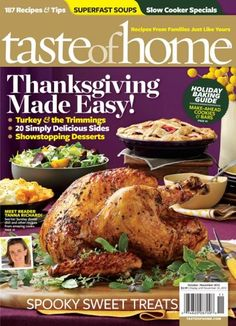 Taste Of Home Magazine Just $3.99 A Year!