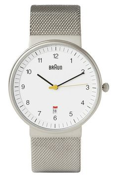 6 Cheap Men's Watches: Braun x Dieter Rams Stainless Steel Watch from Mr Porter. #Stylish365