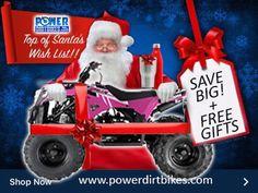 Christmas ATV Sale www.powerdirtbikes.com