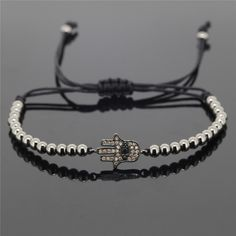 Unique Hamsa Macrame Bracelet