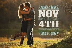 cute country save the date idea