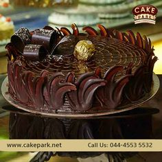 No one will say 'NO' to something imported and nice. Exciting ‪#‎Hazelnut‬ paste and ‪#‎Nuts‬ with your favorite chocolate truffle ‪#‎cake‬ ‪#‎Themecakes‬ ‪#‎Freshcreamcakes‬ ‪#‎Photocakes‬ For more: http://www.cakepark.net/hazlenut-bliss-rfchb.html Call us: +91-44-4553 5532