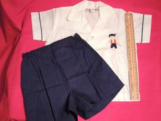 Children's Japanese Clothes White Shirt and by PurveyorsOfFineJunk
