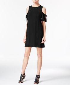kensie Draped Cold-Shoulder Shift Dress - Dresses - Women - Macy's
