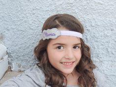 Personalized Feltie Headband  Purple and by MandalynnsMarvels, $12.00